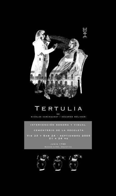 TERTULIA, de Nicolás Varchausky y Eduardo Molinari. Hipótesis de tapa del libro. Material cedido por artistas.
